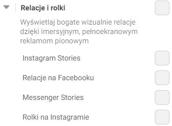 Umiejscowienie - Relacje irolki wreklamie naFacebooku